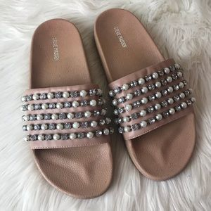 Steve Madden | Embellished Slide Sandals (9)